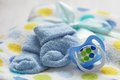 Layette for newborn baby boy see my other works in portfolio Royalty Free Stock Image