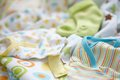 Layette for newborn baby boy see my other works in portfolio Royalty Free Stock Photo