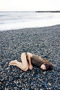 Laying on the beach Royalty Free Stock Photography