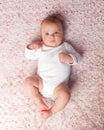 Laying newborn baby girl Royalty Free Stock Photo
