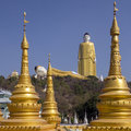 Laykyun sekkya standing buddha tallest buddha statue world m ft located village khatakan taung near monywa myanmar construction Stock Photo