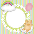 Layout for babys teddy bear floating Royalty Free Stock Photos