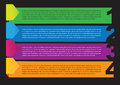 Layout design of colorful paper banners vector illustration Royalty Free Stock Photo