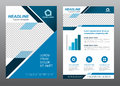 Layout flyer template size A4 cover page blue tone Vector design