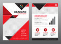 Layout flyer template size A4 cover page red and black tone Vector design