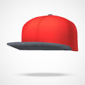 Layout of Male color rap cap. Vector illustration