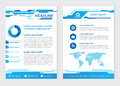 Layout template size A4 Front page and back page  abstract Innovative Blue tone Vector  design Royalty Free Stock Photo