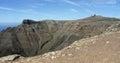 Lazarote mountain volcanic view spain Stock Photo
