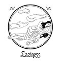 The laziness sin Royalty Free Stock Photo