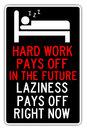 Lazy the benefits of laziness when compared to hard work Stock Image