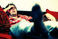 Lazy chilling out man Royalty Free Stock Photo