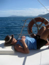 Lazy day on the water Royalty Free Stock Photo