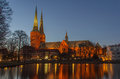 Lübeck cathedral schleswig holstein germany the in Royalty Free Stock Photos