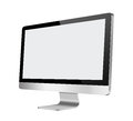 Lcd computer monitor with blank screen on white background Stock Image