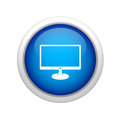 Lcd display icon Royalty Free Stock Image