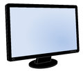 Lcd flat screen computer monitor screen blank with black frame Royalty Free Stock Photos