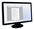 LCD flat screen monitor with generic word processor open Royalty Free Stock Photo