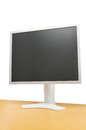 LCD screen on desk Royalty Free Stock Photo