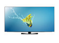 Lcd tv screen black and fish with water splash with clipping work path Stock Images