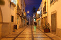 Ld town of tavira portugal narrow street in the old Royalty Free Stock Photography