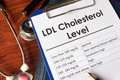 LDL Bad Cholesterol level chart. Royalty Free Stock Photo