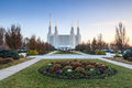 Lds temple washington dc area the in kensington maryland is a sacred structure used as a place of worship for those of the mormon Stock Photo