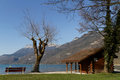 Le bout du lac is the commune at the south of the annecy lake Stock Photography