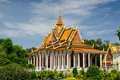 Le Cambodge - le Royal Palace Images stock