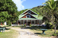 Le chevalier bay guesthouse praslin island seychelles march Stock Image