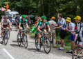 Le cycliste Thomas Voeckler sur Col du Granier Photos libres de droits