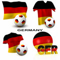 Le football allemand Images stock