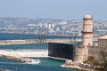 Le fort saint jean marseille france provence Stock Photography