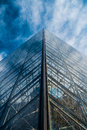 Le louvre the famous glass pyramid at the museum in paris Royalty Free Stock Photos