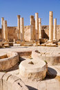 Le macellum (le marché), Jerash (Jordanie) Photo stock
