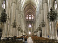 Le mans cathedral inner view of the main nave of cathédrale st julien du is a catholic situated Royalty Free Stock Image