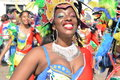 LE MANS, FRANCE - APRIL 22, 2017: Festival Evropa jazz A woman dancing in costumes