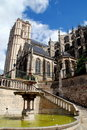 Le Mans, France: Cathédrale St. Julien Royalty Free Stock Photography