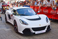 LE MANS, FRANCE - JUNE 13, 2014: Lotus car at a parade of pilots racing Royalty Free Stock Photo