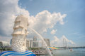 Le Merlion, Singapour Photographie stock libre de droits