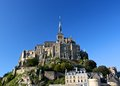 Le mont saint michel from coast Royalty Free Stock Image