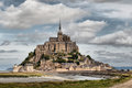 Le mont saint michel in normandy france Stock Images