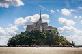 Le Mont Saint Michel, Normandy, France Royalty Free Stock Photo