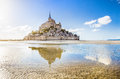 Le Mont Saint-Michel tidal island in Normandy, France Royalty Free Stock Photo