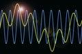 Le onde armoniche diagram la priorità bassa Fotografie Stock
