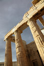 Le parthenon est un temple du Grec Photos libres de droits