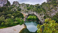 Le Pont d Arch, Natural Reserve of Ardeche, France Royalty Free Stock Photo