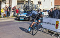 Le prologue de lopez garcia david paris de cycliste nice dans houi Images libres de droits