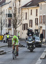 Le prologue de paris de basso d ivan de cycliste nice dans houilles Photos stock