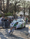 Le prologue de simon julien paris de cycliste nice Photo stock
