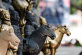 Le reliquie culturali cinesi antiche di terra cotta warriors Fotografie Stock